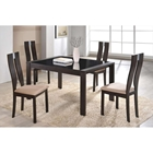 Paige 5-Piece Dining Set in Dark Walnut
