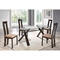 Gabrielle 5-Piece Dining Set, Dark Walnut - GLO-D6846DT-D2421DC-DW-M-SET