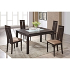 Lillian 5-Piece Dining Set, Dark Walnut