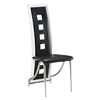 Dining Chair Black with White Trim