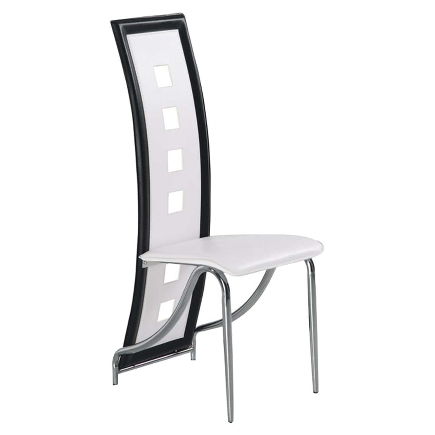 Dining Chair White with Black Trim