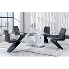 Skylar 5-Piece Dining Set with Black Chairs