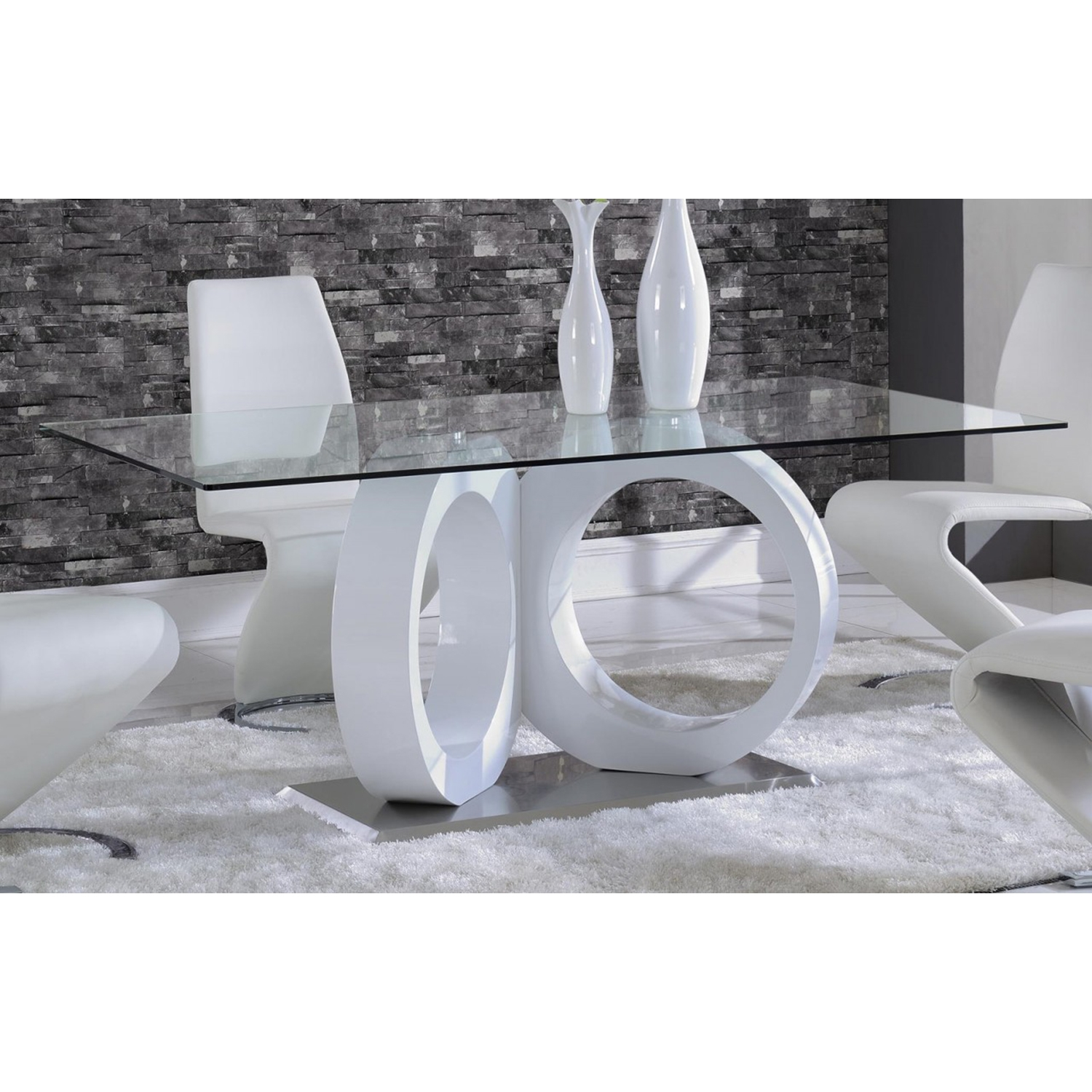 Skylar Dining Table - White