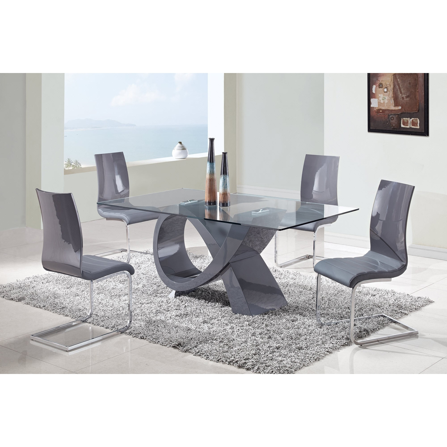 Sergio Dining Chair - Gray - GLO-D989DC