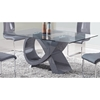 Sergio Dining Table in High Gloss Gray