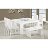 Tristan 6-Piece Dining Set in White