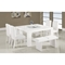 Tristan 6-Piece Dining Set in White - GLO-DG020-WH-SET
