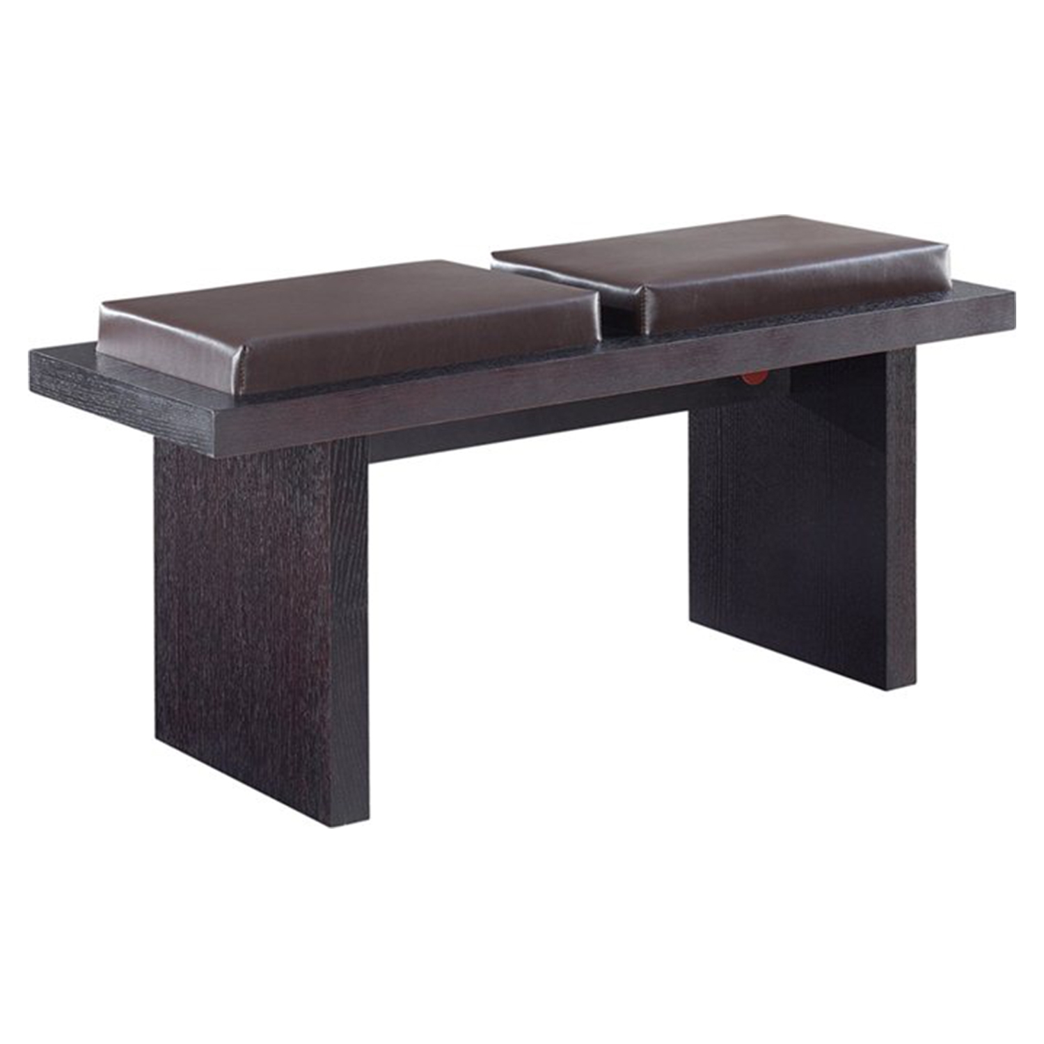 Tristan Bench in Brown Cushion Seat, Wenge Legs - GLO-DG020BN-CP001-M