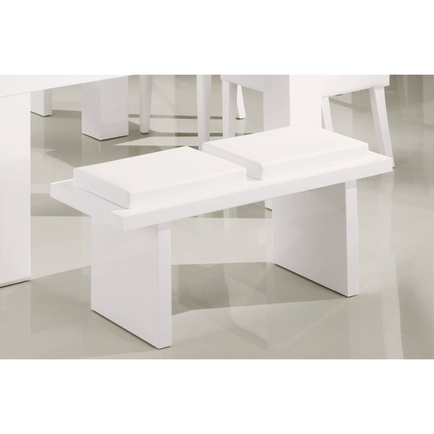 Tristan Bench, Glossy White - GLO-DG020BN-WH
