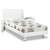 Emily Kids Wooden Bed - White