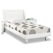 Emily Kids Wooden Bed - White - GLO-EMILY-B86-WH-KIDS-BED