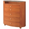 Emily Contemporary 5 Drawer Oval Chest