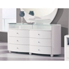 Emily Contemporary 6 Drawer Oval Dresser