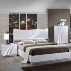 Eva Bedroom Set in High Gloss White