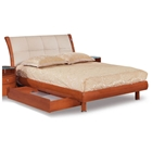 Evelyn Kids Sleigh Bed with Tufted Headboard