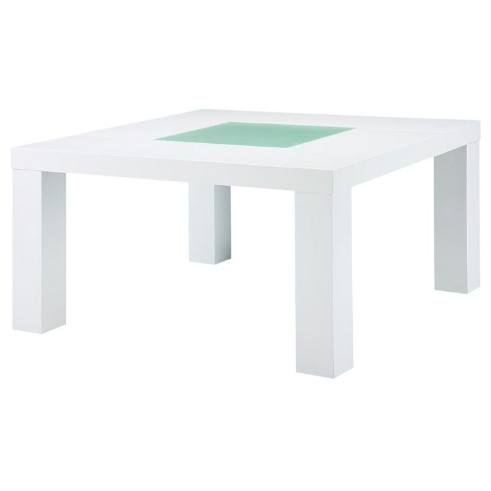 Monica Square White Dining Table