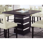 Brinley Bar Table with Frosted Glass Accent