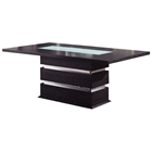 Brinley Dining Table with Frosted Glass Accent
