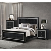 Galaxy Bedroom Set in Metallic Black