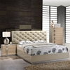 Grace Bedroom Set in High Gloss Zebra Cherry/Champagne