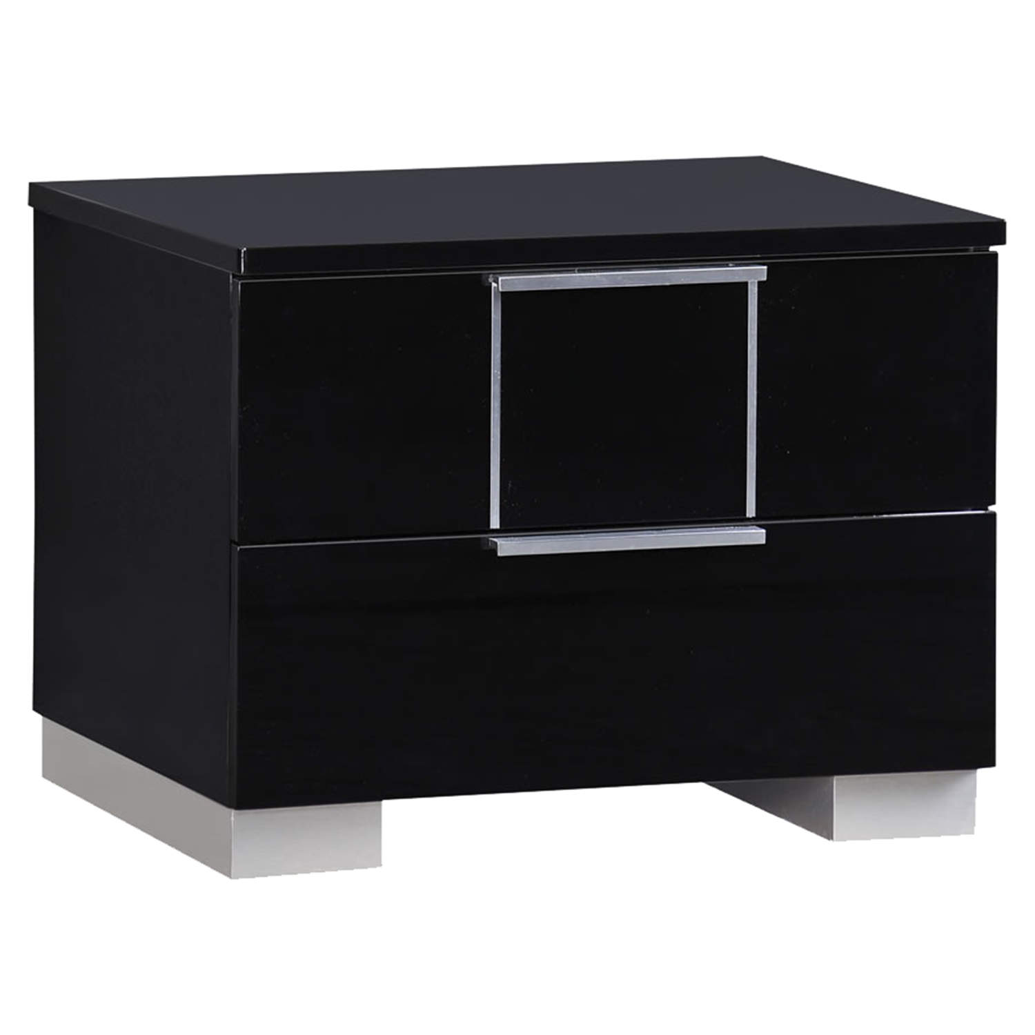 Hailey Nightstand, High Gloss Black