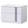Jody Nightstand, High Gloss White