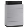 Lexi Chest, Silver Line/Zebra Gray