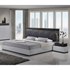 Lexi Bedroom Set in Silver Line/Zebra Gray