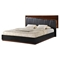 Lexi Bed in High Gloss Black/Zebra Walnut - GLO-LEXI-982B-BL-W-BED