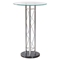 Rylee Bar Table in Clear/Black, Chrome Legs - GLO-M208BT-M