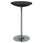 Bar Table in Black, Chrome Base