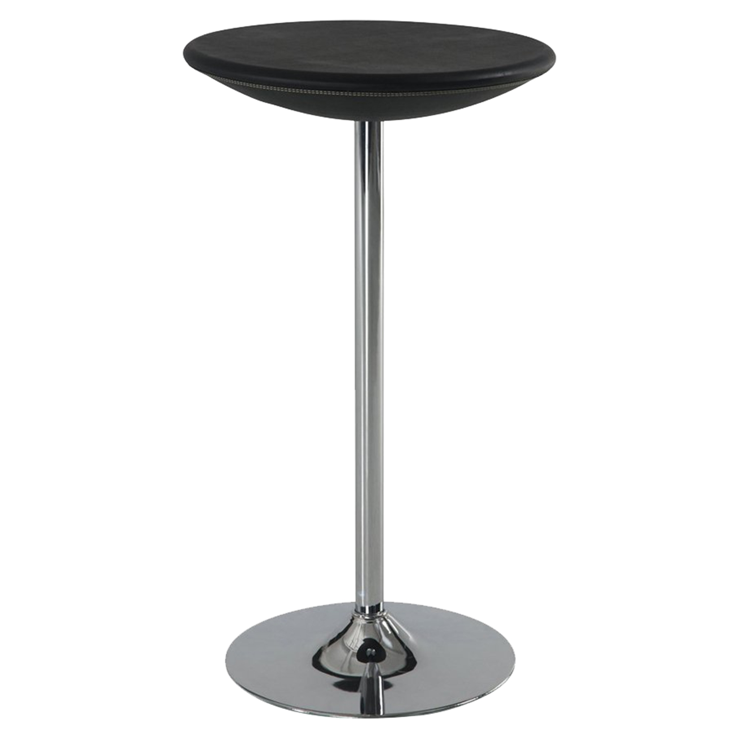 Bar Table in Black, Chrome Base - GLO-M219BT-M