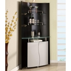 Home Bar Unit in Black and Silver