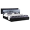Manhattan Bedroom Set in High Gloss Black - GLO-MANHATTAN-961-M-SET