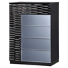 Manhattan Chest - High Gloss Black