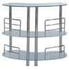 Maya Bar Table - Frosted Glass, Chrome Legs