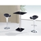Ellie Bar Table - Black, Chrome Leg - GLO-MD096BT-M