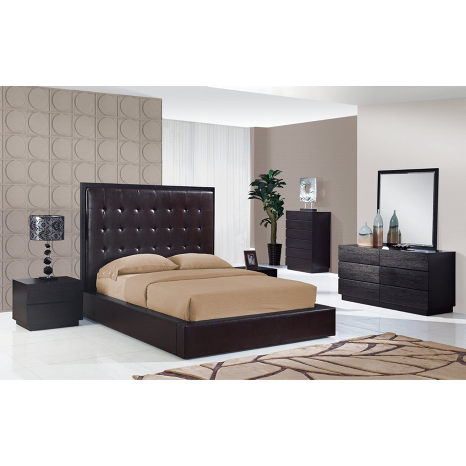 Metro Bed, Brown - GLO-METRO-CHOC-BED