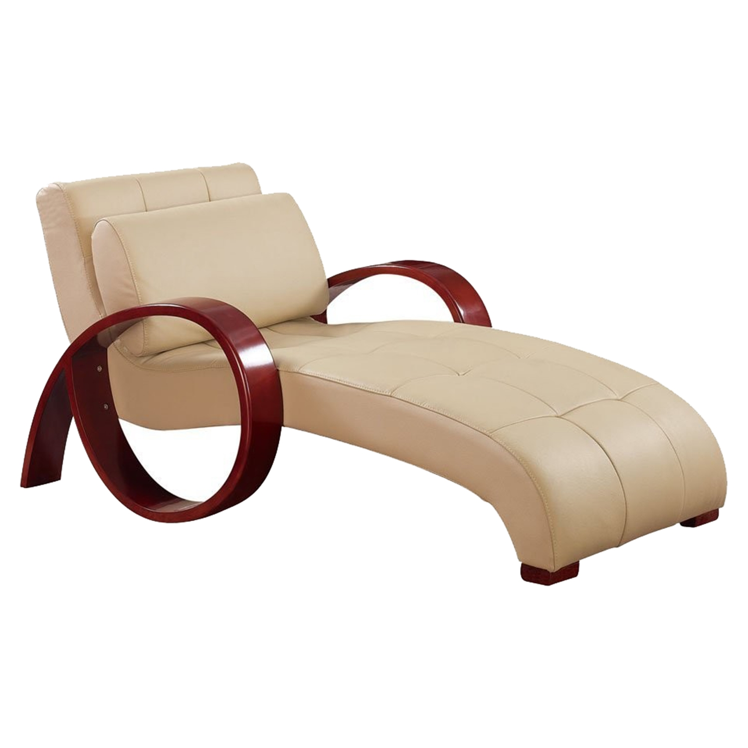 Relax Leather Chaise Lounge in Cappuccino - GLO-R963-RLX