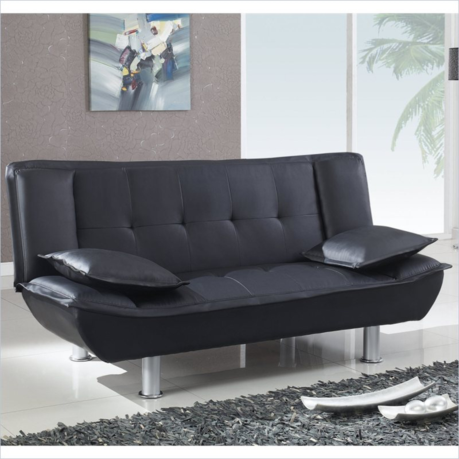 Breanna Sofa Bed - Black