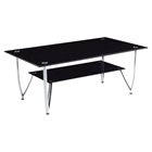 Marissa Coffee Table - Black, Chrome Legs