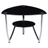 Marissa End Table in Black, Chrome Legs