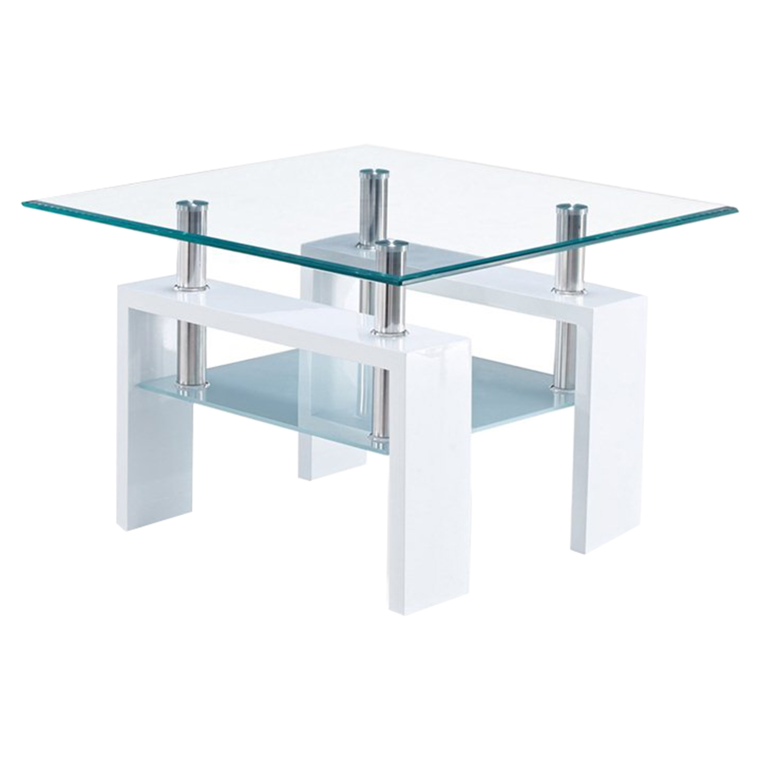 Brooklyn End Table, Glossy White