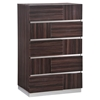 Tribeca Chest - High Gloss Brown Wood Grain