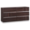 Tribeca Dresser in High Gloss Brown Wood Grain - GLO-TRIBECA-110-D