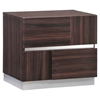 Tribeca Nightstand in High Gloss Brown Wood Grain