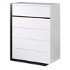 Trinity Chest - White with Black Glossy Finish