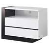 Trinity Entertainment Unit in White with Black Glossy Finish