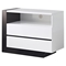 Trinity Entertainment Unit in White with Black Glossy Finish - GLO-TRINITY-EU