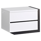 Trinity Right Nightstand - White with Black Glossy Finish